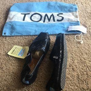 Black Sequins Toms Classics